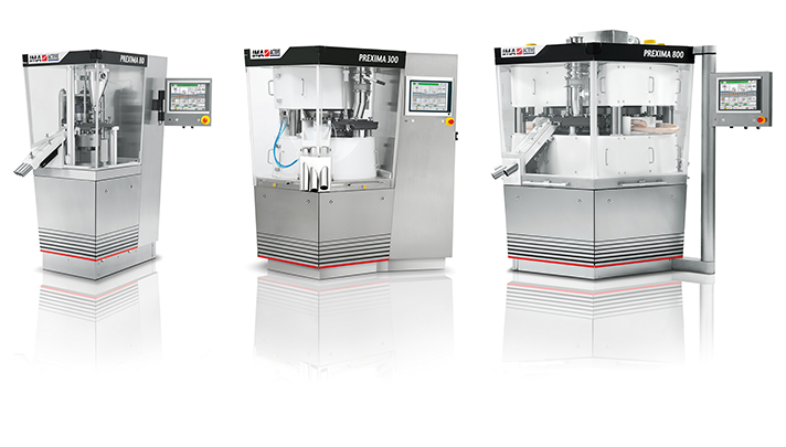 IMA Active's experience and expertise in the pharmaceutical industry have been carefully channelled into Prexima, the new series of tablet press machines.