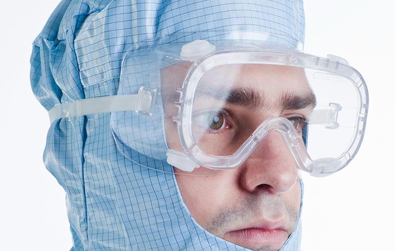 Gafas para salas limpias
