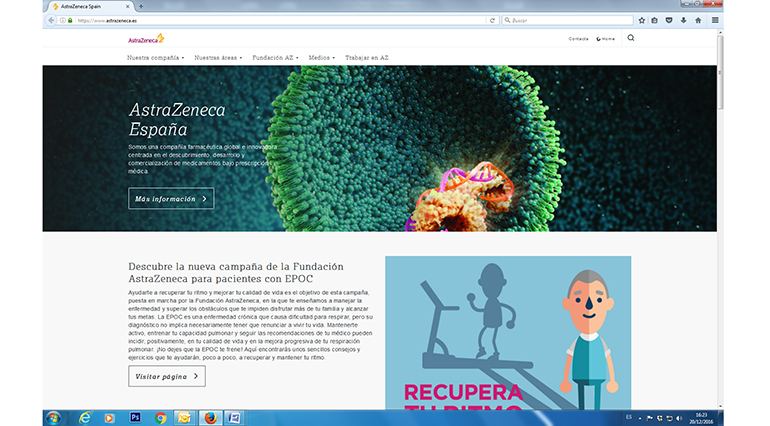 AstraZeneca, web