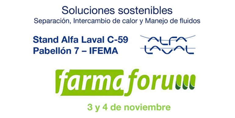 Alfa Laval acudirá a FarmaForum 2021