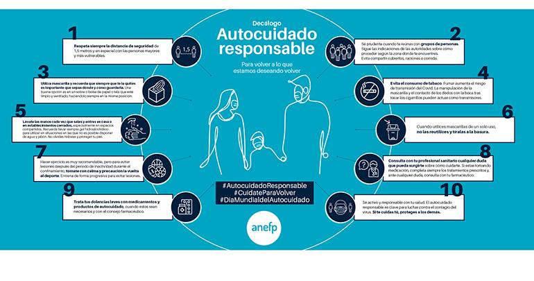 Consejos de anefp para evitar contagios en el Día Mundial del Autocuidado