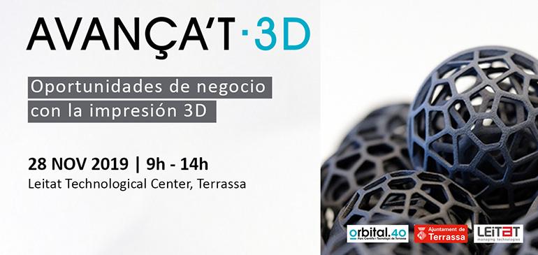 AVANÇA'T 3D, la cita con el negocio de la impresión 3D