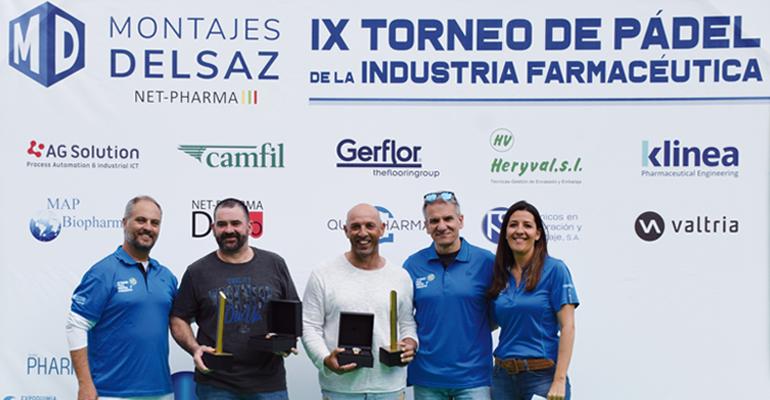 Pablo Dueñas, de Kernpharma, y Victor Prats, ganadores de la IX edición del torneo 2019 en Barcelona