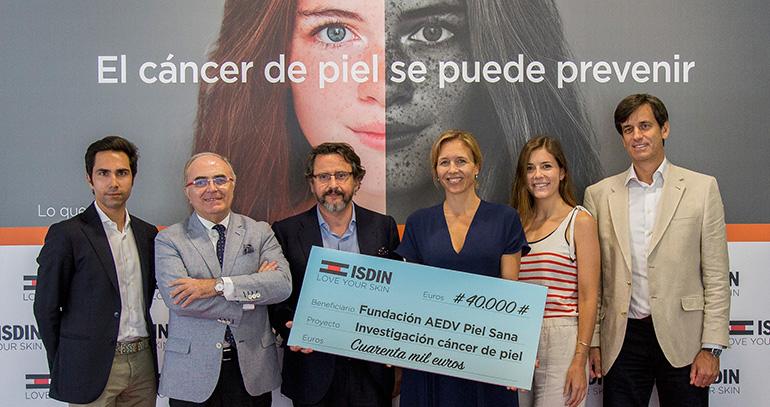 Donación de ISDIN para la investigación contra el cáncer de piel