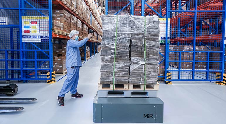 Novo Nordisk utiliza los robots móviles de MiR en su fábrica de fármacos en China