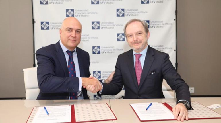Net-Pharma firma acuerdo de colaboración con la Francisco de Vitoria