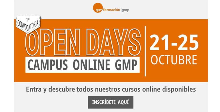 Primera Convocatoria de Jornadas de Puertas Abiertas en el Campus online de CPM Formación GMP