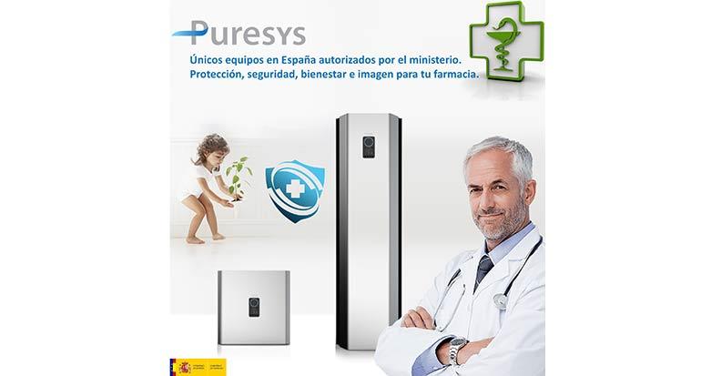 Los purificadores de aire de Puresys llegan a las farmacias