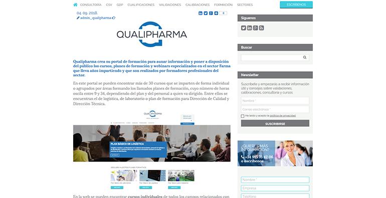 qualipharma, portal, we, industria farmacéutica