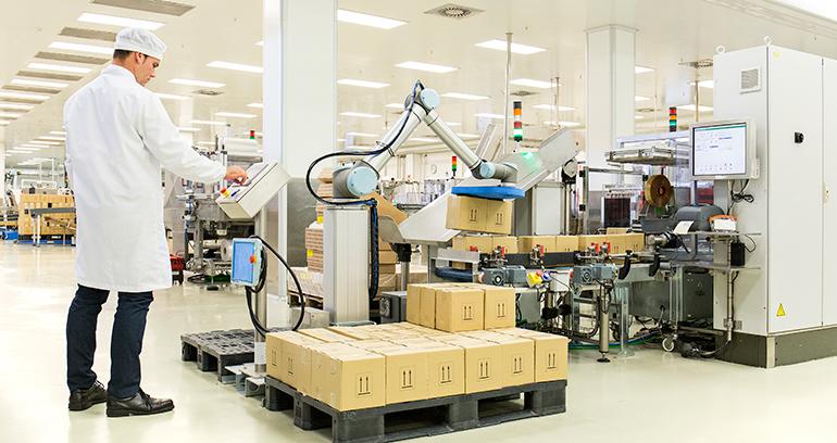 RNB Cosméticos introduce robots colaborativos en su producción
