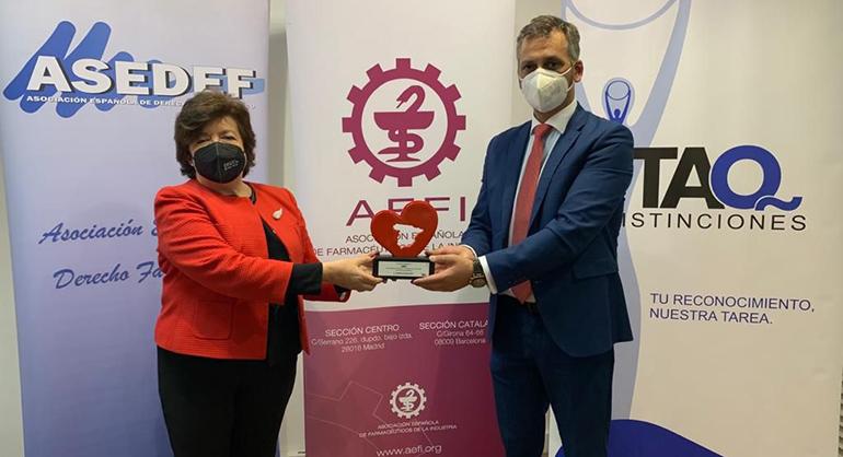AEFI, galardonada por su labor formativa durante la pandemia