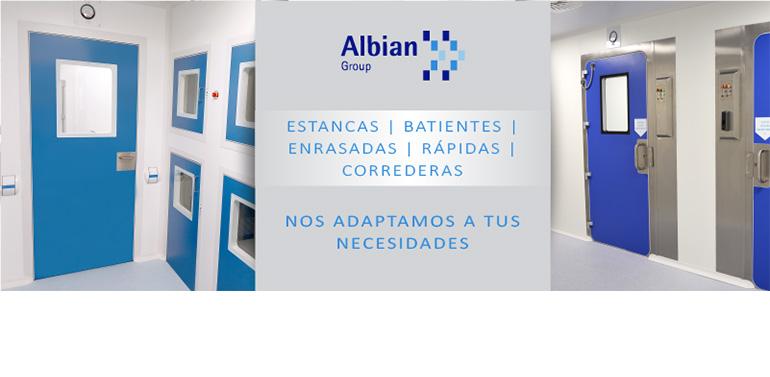 Albian Group amplía su gama de puertas para salas blancas