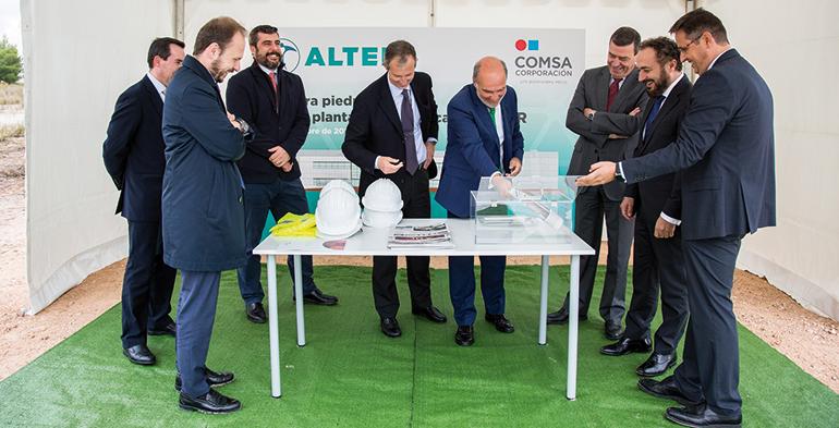 COMSA comienza la construcción de la nueva planta de Grupo Alter