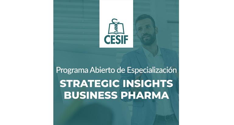 Programa Abierto de Especialización en Strategic Insights Business Pharma de CESIF en octubre