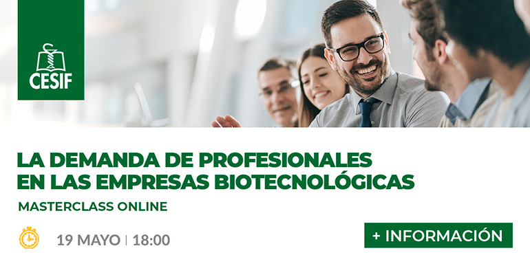 Masterclass online: mejores oportunidades en compañías biotecnológicas