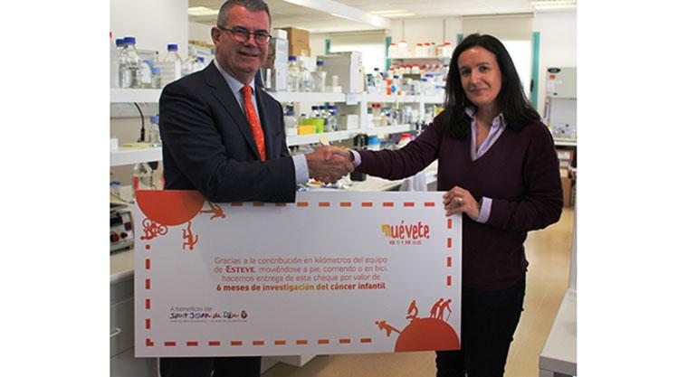 Trabajadores de ESTEVE consiguen financiar medio año de investigación en el Hospital Sant Joan de Déu