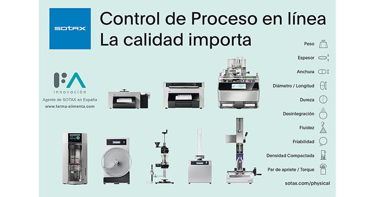 La línea de equipos de control en proceso de Sotax continua con su expansión en el mercado español