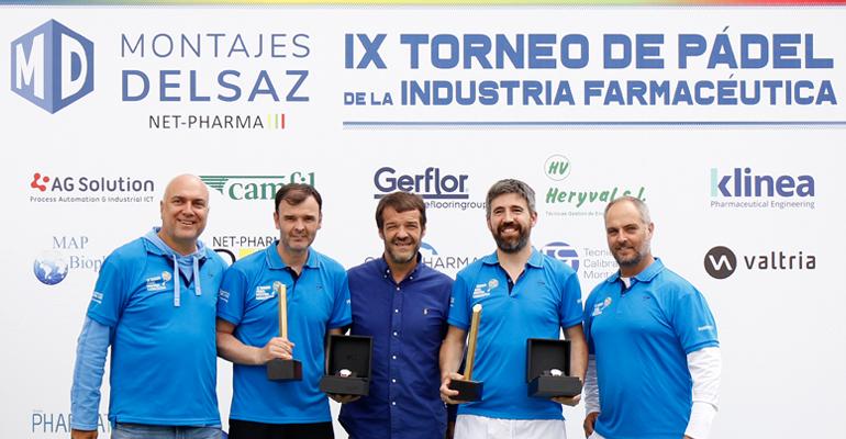 Héctor Colino y César Rolland, de NORMON, campeones de la IX edición del Torneo de Pádel de la Industria Farmacéutica en Madrid