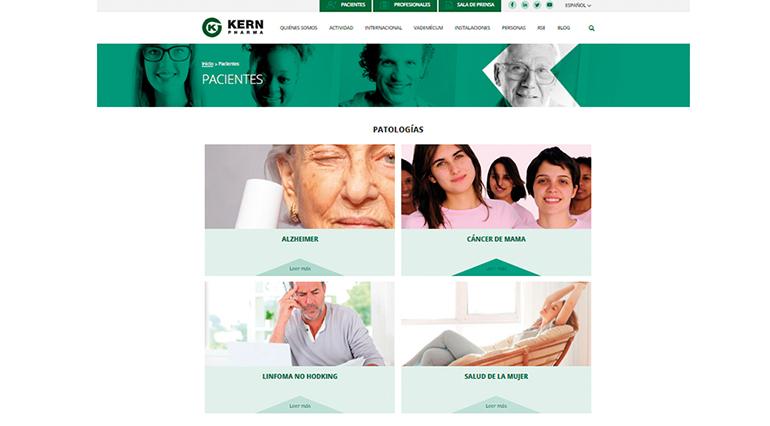 Kern Pharma amplía su web