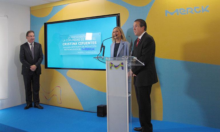 Merck inaugura la ampliación de su planta biotecnológica de Tres Cantos (Madrid)