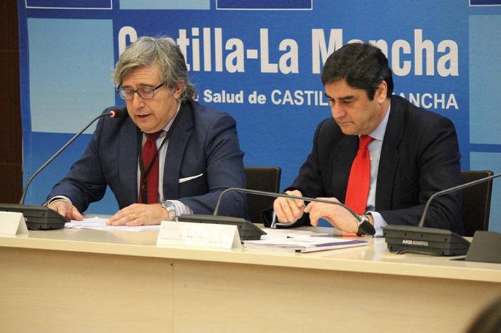 De izda. a dcha.: Ángel Navarro y José Ignacio Echániz