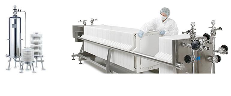 Módulos y placas filtrantes para procesos cosméticos