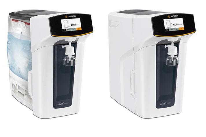 Sistema compacto de agua ultrapura para laboratorios