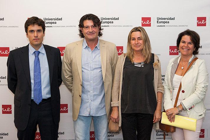 De izda. a dcha.: Fernando Setién, José Juan Canel Álvarez, Elena Rodríguez Iñigo y María Cruz Gaya López