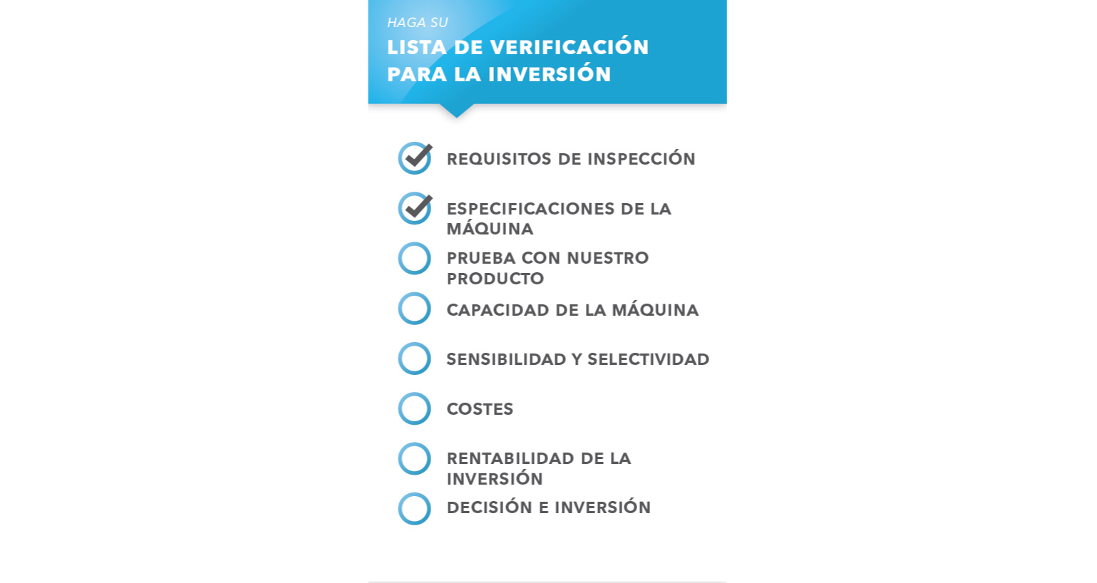 La guía de inversión para máquinas de clasificación e inspección visual automatizadas