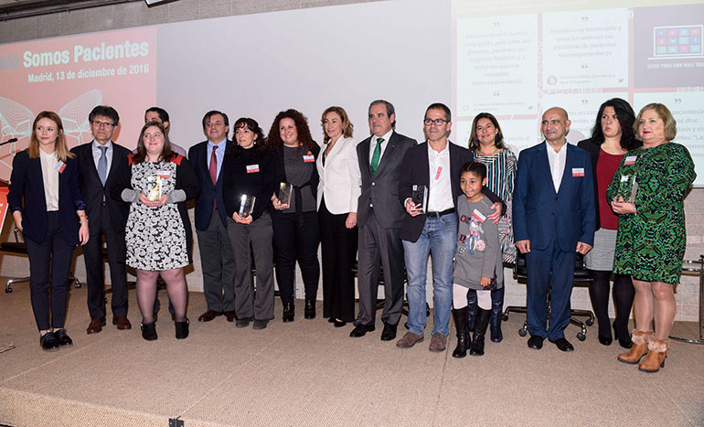 Ganadores de la segunda edición de los Premios Somos Pacientes