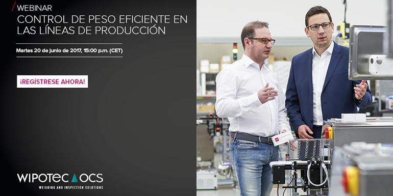 Webinar Wipotec-OCS sobre la correcta gestión del control de peso en las líneas de producción